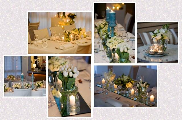 bunga meja pernikahan