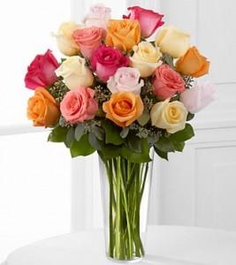 bunga mawar warna warni membuat suasana ceria