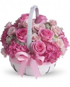 mengapa keranjang bunga pink membuat bahagia