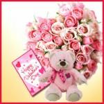 Hadiah Valentine Lucu Boneka, Coklat dan Bunga