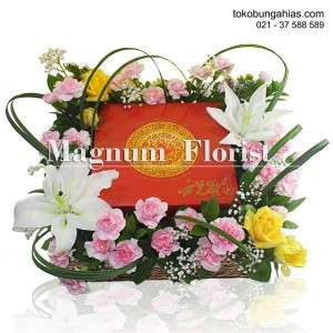 keranjang-bunga-lily-casablanca-putih-mawar-kuning-carnation-pink