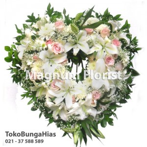 standing-flower-krisan-putih,-lily,-mawar-pink