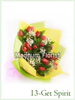 Buket Bunga Tangan 13-Get Spirit