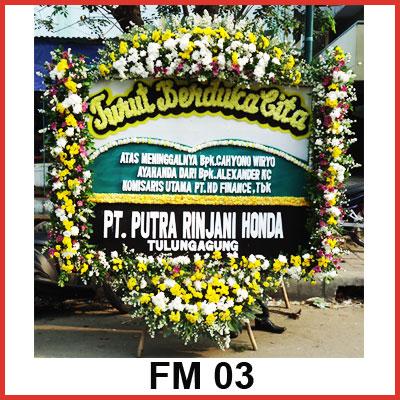Karangan Bunga Papan Duka FM 03