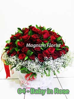 Buket Bunga Meja 04 Baby in Rose