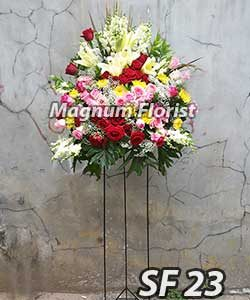 Karangan bunga standing FS 23