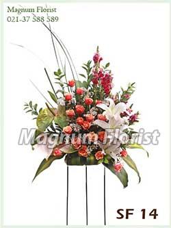 Karangan bunga standing SF 14