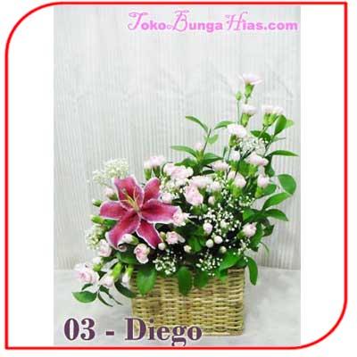 Buket Bunga Meja 03-Diego