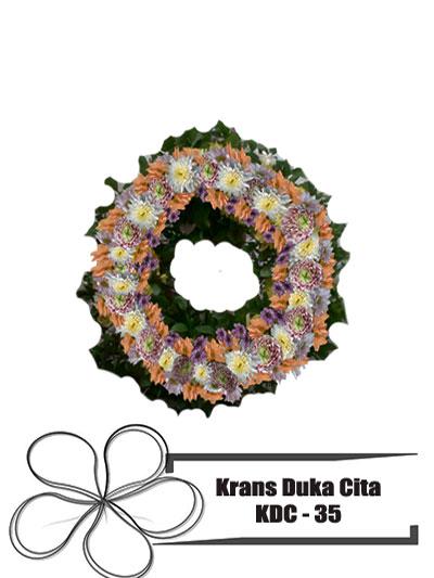 krans-duka-cita-bundar-pink-orange-bunga-KDC 35