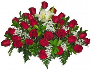 rangkaian bunga mawar meja 7