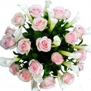 karangan-bunga-vas-calalily-mawar-pink