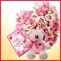 rangkaian-mawar-hati-boneka-valentine -pink