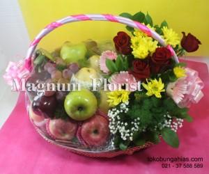 parcel-buah-bunga-mawar-merah,-aster-kuning,-gerbera-pink