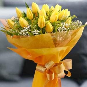 Buket Bunga Tulip Kuning