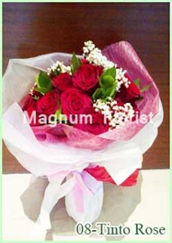 Buket Bunga Tanga 08-Tinto Rose