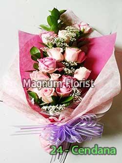 Buket-bunga-mawar-pink-24-Cendana