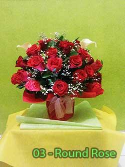Buket Bunga Meja 03 Round Rose