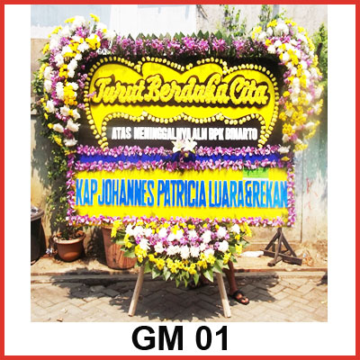 Karangan Bunga Papan Duka GM 01