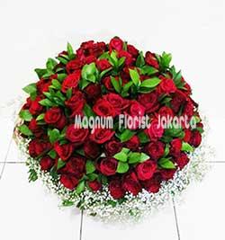 Toko Bunga Online Jual Rangkaian Aneka Warna Bunga Mawar