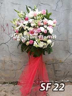 Karangan bunga standing FS 22