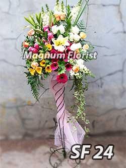 Karangan bunga standing FS 24