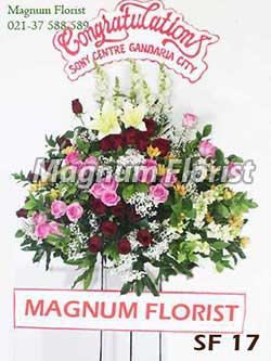 Karangan bunga standing SF 17